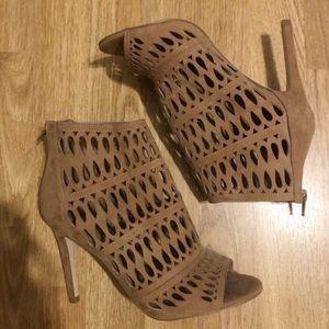 Aldo light brown open toe heels in great condition